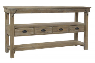 CONSOLA MADERA RECICLADA METAL 150X45X82 NATURAL
