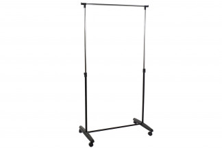 PERCHERO ACERO PP 85X43X95 EXTENSIBLE NEGRO