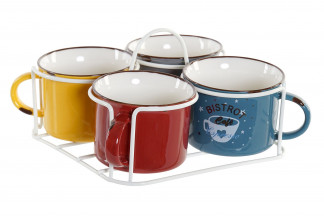 MUG SET 4 NEW BONE 17X17X9,5 180 ML. BISTROT
