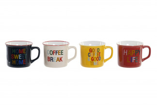 MUG NEW BONE 11X8,3X7 220 ML. COFFEE BREAK 4 SURT.