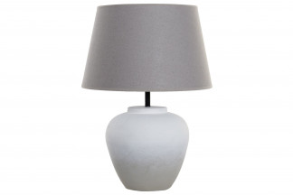 LAMPARA SOBREMESA CEMENTO LINO 45X62,5