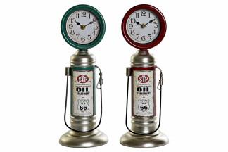 RELOJ SOBREMESA METAL PP 13,5X15X37 GAS 2 SURT.